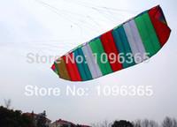 Wholesale Dual Line Control Rainbow Colour Parafoil Power Kite m string Sport Power Singe Line kite