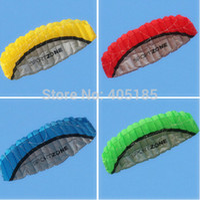 Wholesale High quality m Dual Line Stunt Parafoil Kite Power soft kite various colors choose