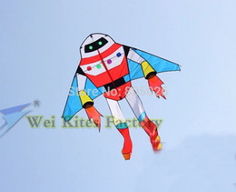 Wholesale high quality robot kite Planet soldiers flying with handle line child love Astronaut outdoor toys wei kites