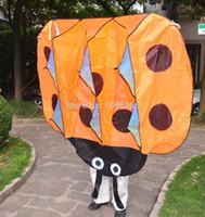 beetle body parts - New D Large Orange Ladybug Beetle Soft Power Single Line cm Parafoil kite