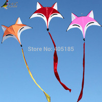 bamboo fly rods - Outdoor Fun Sports Weifang Kite Fox Kite High Quality Umbrella Carbon Rod Animal Kite New Arrival Flying