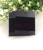 Wholesale x Black Plastic With Velvet Card Ear Hooks Earring Display Cards Cheap Jewelry Earring Packaging Card Supplier