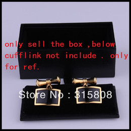 New Man Black Rectangle Faux Leather Small Cufflinks Box 60pcs lot 8x4x3cm Gift Boxes for Men (SELL BOX ONLY)