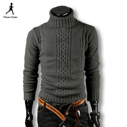 Wholesale 2015 Men Pullover Men Sweater Brand Turtleneck Winter Pull Homme Wool Sweater Men Plus Size Men Sweater Patterns Mens Sweaters