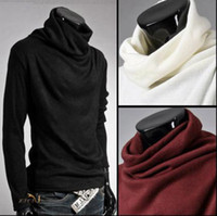 Wholesale man spring hot Selling required super cool autumn and winter rotating collar men backing turtleneck sweater