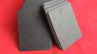 Wholesale black blank hang tag earring card