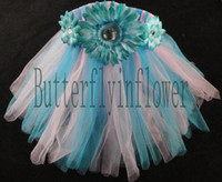 Wholesale lot2014 new arrival summer beautiful chiffon short skirt with flower optional collocation colours custom tutus for baby