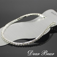 Cheap 60pcs lot ANKLE BRACELET ANKLET STRETCH CLEAR GLASS CRYSTAL DIAMANTE SILVER , Wholesale, free shipping