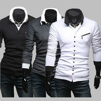 Unique Different Designer Clothes Wholesalers Slim Buttons Cool Sweater