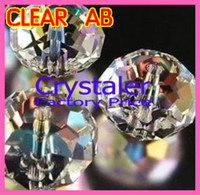 Wholesale mm mm mm mm mm AAA Top Quality Crystal Clear AB color loose Crystal Rondelle beads