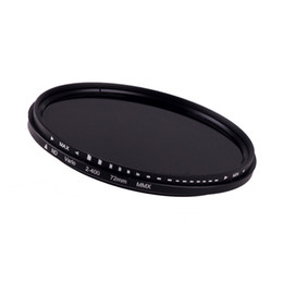 Wholesale New mm Fader Variable ND Filter Adjustable ND2 to ND400 Neutral Tonsee