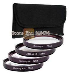 Cierre conjunto de filtro online-LENTE MACRO CLOSE UP SET FILTER KIT 1 + 2 + 4 + 10 + CASO DE 52mm para DSRL CAMARAS