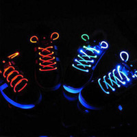 Wholesale LED Shoe lace Shoe laces Shoe Laces Lace Red Green Blue Orange flashing Christmas