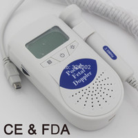 baby heartbeat detector - Baby Care Home use Fetal Doppler Fetal Portable Heartbeat Detector for pregnant women LCD display MHZ Probe Added CE amp FDA proved