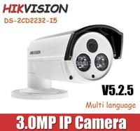 Wholesale Hikvision mm mm lens MP Bullet IP Camera DS CD2232 I5 POE P V5 CCTV Camera with bracket Waterproof outdoor Camera