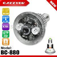 bc storage - FREE EazzyDV BC C Bulb WiFi AP HD720P P2P IP Network Camera Motion Dection Email Alert Night Vision Circular Storage