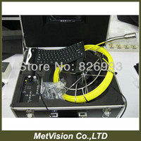 audio pipe - Manual push pipe inspection videoscope camera with keybard DVR audio amp video record SD card memory m cable
