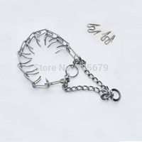 Wholesale 1 pc Dog Chain Metal Training Choke Pet Necklace Dog Collar Dog Ring Necklace Dog Training Products C2040