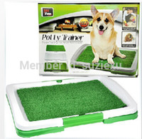 dog toilet - DOG PUPPY POTTY TRAINER INDOOR TRAINING GRASS PATCH PAD TOILET MAT amp TRAY PET SYSTEM