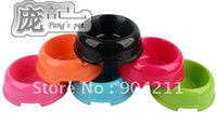 plastic dog bowl - gift Plastic candy color Pet dog cat food water feeder bowl basin dish cat products