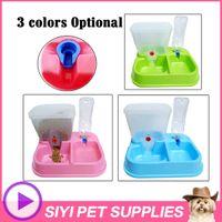 Cheap pet dog Combination automatic feeder water dispenser water dispenser feeding cat bowl Dog Feeding & Watering Supplies pet bowl