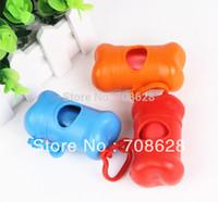 bag waterers - 20PC Bone Shape Pet Dog Garbage Bag Dispenser Box Waste Poop Scooper Bag Carrier