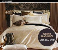 Wholesale Jacquard Luxury bedding set adult bed linen flat sheet pillow case duvet cover king size quilt cover hot sale price