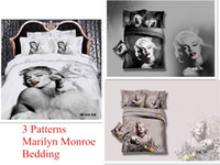 Cheap *3d Your Life! 100% cotton comforter cover set no filling marilyn monroe bedding