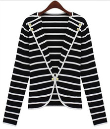 Black White Stripes Blazer Women Online | Black White Stripes ...