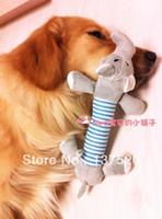 Wholesale Stuffed Black Pig - 2pcs bag Pet Dogs Squeaky Squeaker Sound Plush Stuffed Play Toys Pig + Elephant ZBT Free Shipping