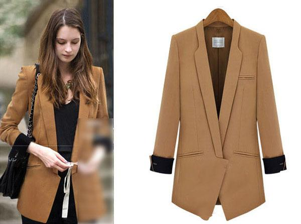 Discount Autumn 2015 New Fashion Women'S Boyfriend Blazer Basic ...