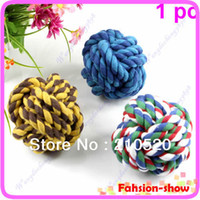 big cat teeth - 1PC Pet Dog Cat Cotton Big Size Rope Ball Toys Chew Rope Teeth Clean Chase Throw Train Play Ball