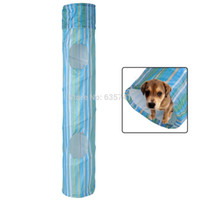 agility tunnel - Portable Exercise Dog Fun Collapsible Pet Obedience Agility Training Tunnel Striped Cave Chute Tool Rabbit Ferret
