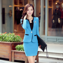 Wholesale Free Shopping new 2015 spring suits for women work wear skirts women suits winter dress