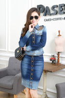 jean dresses and skirts - Charm women s denim jean dress with button pieces set skirt and jean dress outerwear