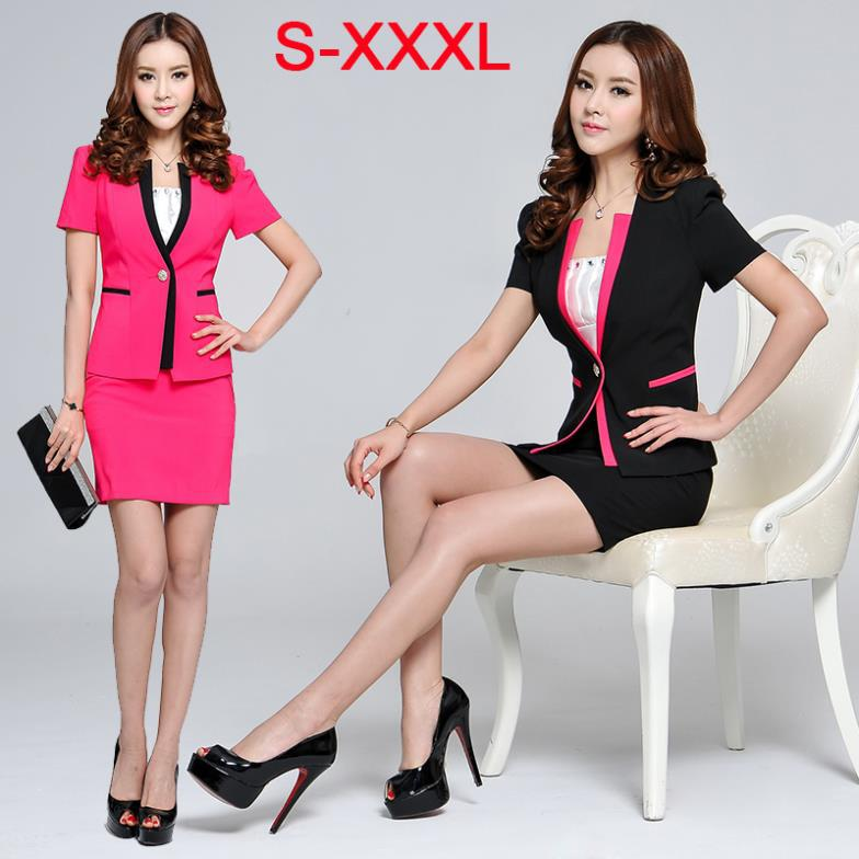 Plus Size Women Business Suits Formal Office Suits Work Wear OL ...