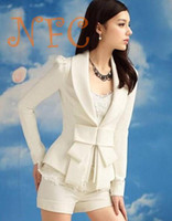 Cheap New For White Blazer big bowknot cultivate one's morality long sleeve Blazers suit tailored suit wholesale small suit women