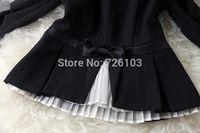 american apparel blazer - European American Apparel Fall Fashion Favorite Organza Creased Shirt Short Black Pants Suit Jacket Women Clothes Sets