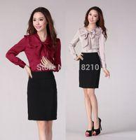 New Plus Size Elegant 2015 Spring Autumn Blusas Femininas Women Tops Clothes Professional Business Work Wear Blouses Women Shirt