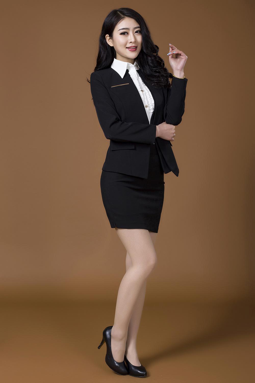 2017 Spring 2015 Formal Women Skirt Suits Sets Red Black Coat ...