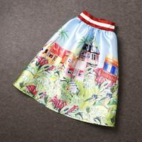 african skirt set - 2015 spring summer piece set women two piece outfits tropical print high waist skirt midi skirt african woman print t shirts