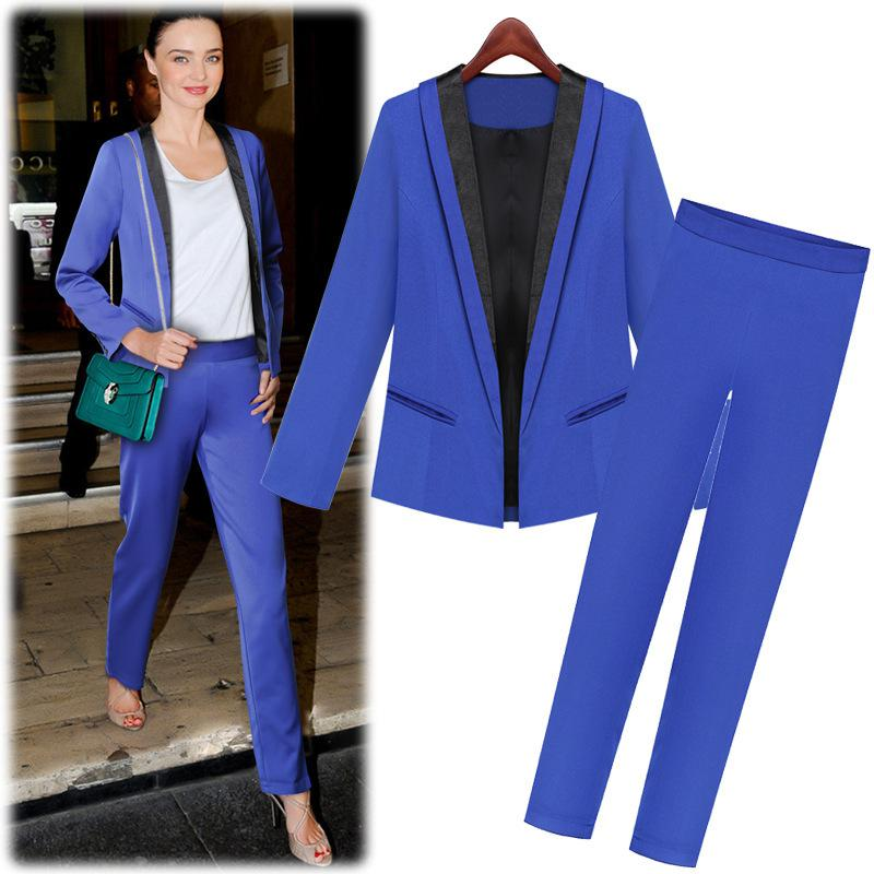 European And American Fashion 2015 Office Dress Women Suits with ...