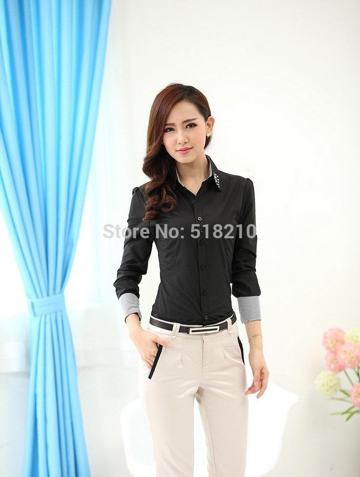 2017 Formal Pantsuits Blouses And Pants For Ladies Office Uniform ...