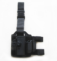 Cheap Wholesale-Tactical Drop Leg Holster for Glock 17 IMI Rotary Holster+magazine carrier+leg panel Free ship