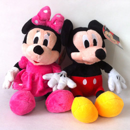 Wholesale 2015 New Hot cm Lovely Mickey Mouse And Minnie Animal Stuffed girls doll plush toys for children Gift baby toys