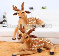 aquatic articles - Sika deer plush toys simulation figures sika deer furnishing articles creative gift cm