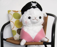 alpacasso pirate - 7 quot White Pirate Hat Arpakasso Alpacasso Alpaca Plush Soft Toy Dolls Cute Animal Toys Lovely Christmas Gift for Kids Baby TY003