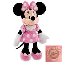 minnie mouse plush - Original Mickey Minnie Mouse Pelucia Toys cm Minnie Plush Pink Dress Stuffed Animals Dolls For Girls