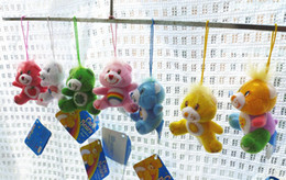 Wholesale 30pcs colors cute teddy bear colorful care bears stuffed toy small plush pendant use for phone bag gift for girl