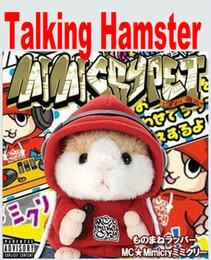 Wholesale 2015 Hot Children Gift Talking Hamster Speak Talking Sounding Record Hamster Christmas Gifts Plush Toys Animal with DJ Character